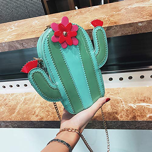 La En De Mujeres De Qiulv Bolsa Horizontes Verde Cadena Bolso Cactus Asas Crossbody Hombro Del Del Forma De 5qZYqvwt