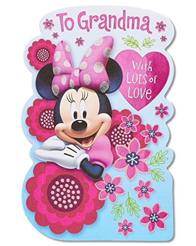 American Greetings Minnie Mouse Mother's Day Card For Grandma With Glitter (5856836)