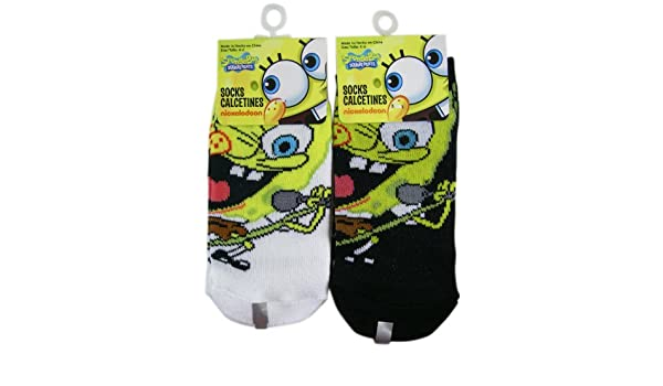 Amazon.com: Spongebob Squarepants Socks - Kids Novelty Socks (3 Pair) Size 6 -8: Clothing