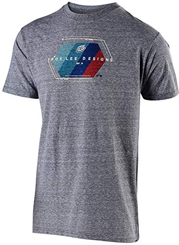 Troy Lee Designs Men's Technical Fade T-Shirt (Large, Vintage Gray Snow)