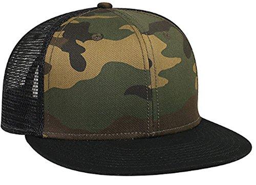 Joe's USA(tm) Camouflage Cotton Twill Flat Visor Pro Style Mesh Back Caps