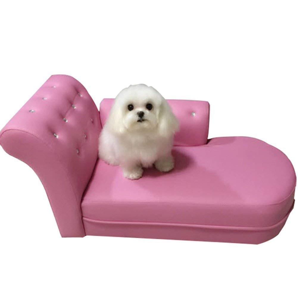 チヤミ ペットソファー ペットベッド 猫用 犬用 椅子型 可愛い 寝台 室内用 ペット用品(ホワイト) B07G12FW5P ピンク  ピンク