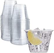 50 Clear Plastic Cups | 9 oz Plastic Cups | Clear Disposable Cups | PET Cups | Clear Plastic Party Cups | Crys