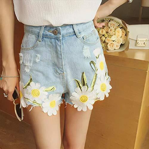 Ruikey Parches De Crisantemo Parches De Flores Blancas Parches De Flores Bordadas Para Los Pantalones Vaqueros De La Camiseta Diy Accesorios Decorativos