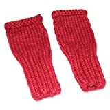NOVICA Red Alpaca Blend Fingerless Gloves, 'Andean Passion'