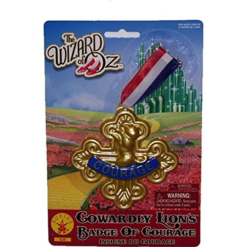 Wizard of Oz Cowardly Lion-Badge of Courage, 75th Anniversary (Cowardly Lion Adult Costumes)