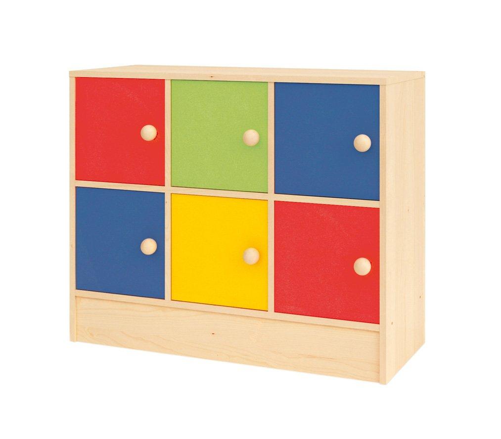 Creativity Rainbow Range Storage Cupboard with 6 Square Cupboard Doors CI NS 0468/B