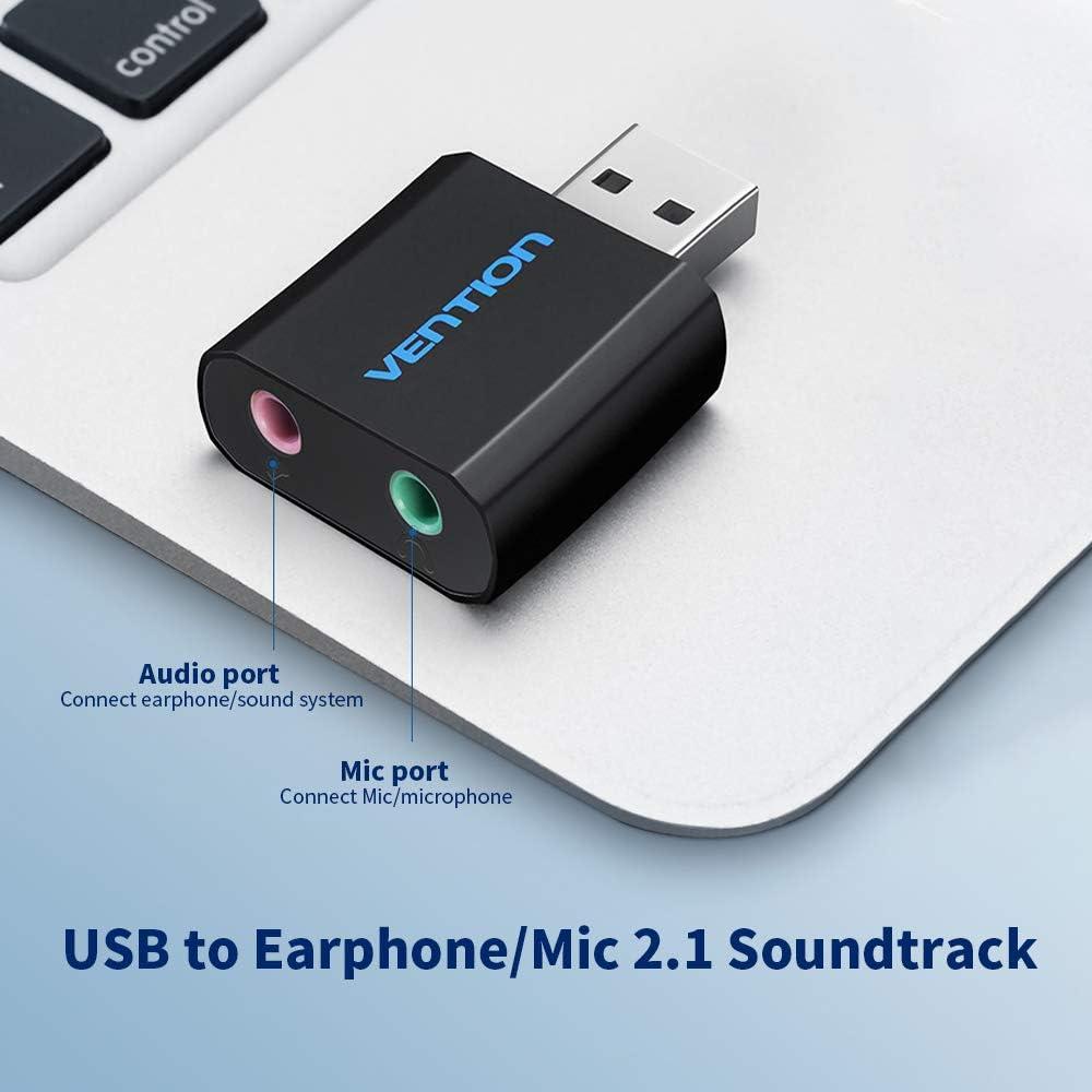 Amazon.com: Grborn VENTION - Tarjeta de sonido externa USB ...