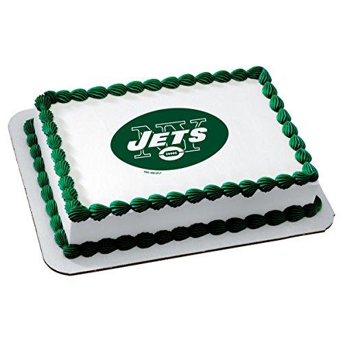NFL NewYork Jets Licensed Edible Sheet Cake Topper -
