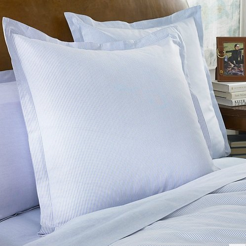 Amazon.com: Lauren By Ralph Lauren Bedding University Blue Oxford Stripe  STANDARD Sham: Home U0026 Kitchen