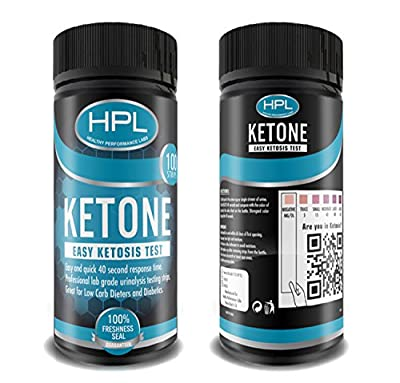 Healthy Performance Labs - Clinical Ketone Test Strips - 100 Urine Strips - Check Ketosis Levels - Track Your Low Carb/High Fat Butter Coffee Diets - Satisfaction/Freshness Guaranteed
