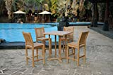 Outdoor Teak 5PC Bar Set