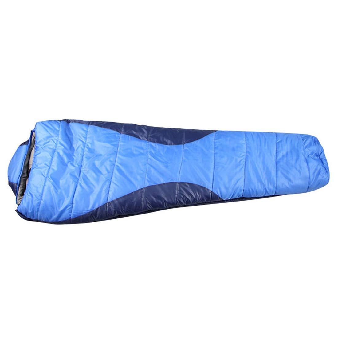 UICICI Camping Mummified Schlafsack mit Kragen Leichter, tragbarer, wasserdichter Komfort mit Kompressionssack - ideal für 2 Jahreszeiten beim Wandern und Wandern im Freien