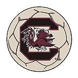 NCAA University of South Carolina Gamecocks Soccer Ball Mat Round Area Rug