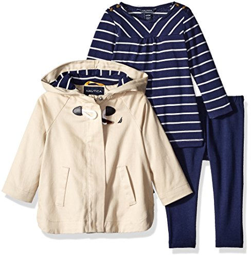 Nautica Baby Jacket, Shirt and Legging, Linen, 18 Months by Nautica