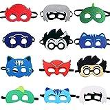 TEEHOME-Cartoon-Hero-Masks-Party-Favors-for-Kid-12-Packs-with-All-Characters-CatboyOwletteGekkoRomeoNight-Ninj