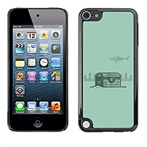 [Neutron-Star] Snap-on Series Teléfono Carcasa Funda Case Caso para Apple iPod Touch 5 [Verde Tesoro Diver Submarinismo]