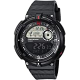 Casio Men's 'Twin Sensor' Quartz Resin Casual Watch, Color:Black (Model: SGW-600H-1BCF)
