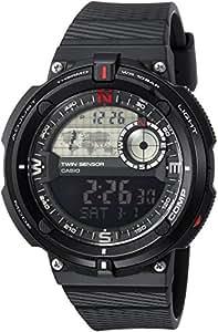 Casio Men's 'Twin Sensor' Quartz Resin Casual Watch, Color Black (Model: SGW-600H-1BCF)
