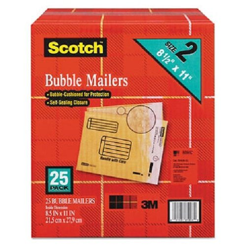 Scotch Bubble - 2 Pack of 25 Scotch 8.5 x 11 inches Bubble Mailer Bundled by Maven Gifts