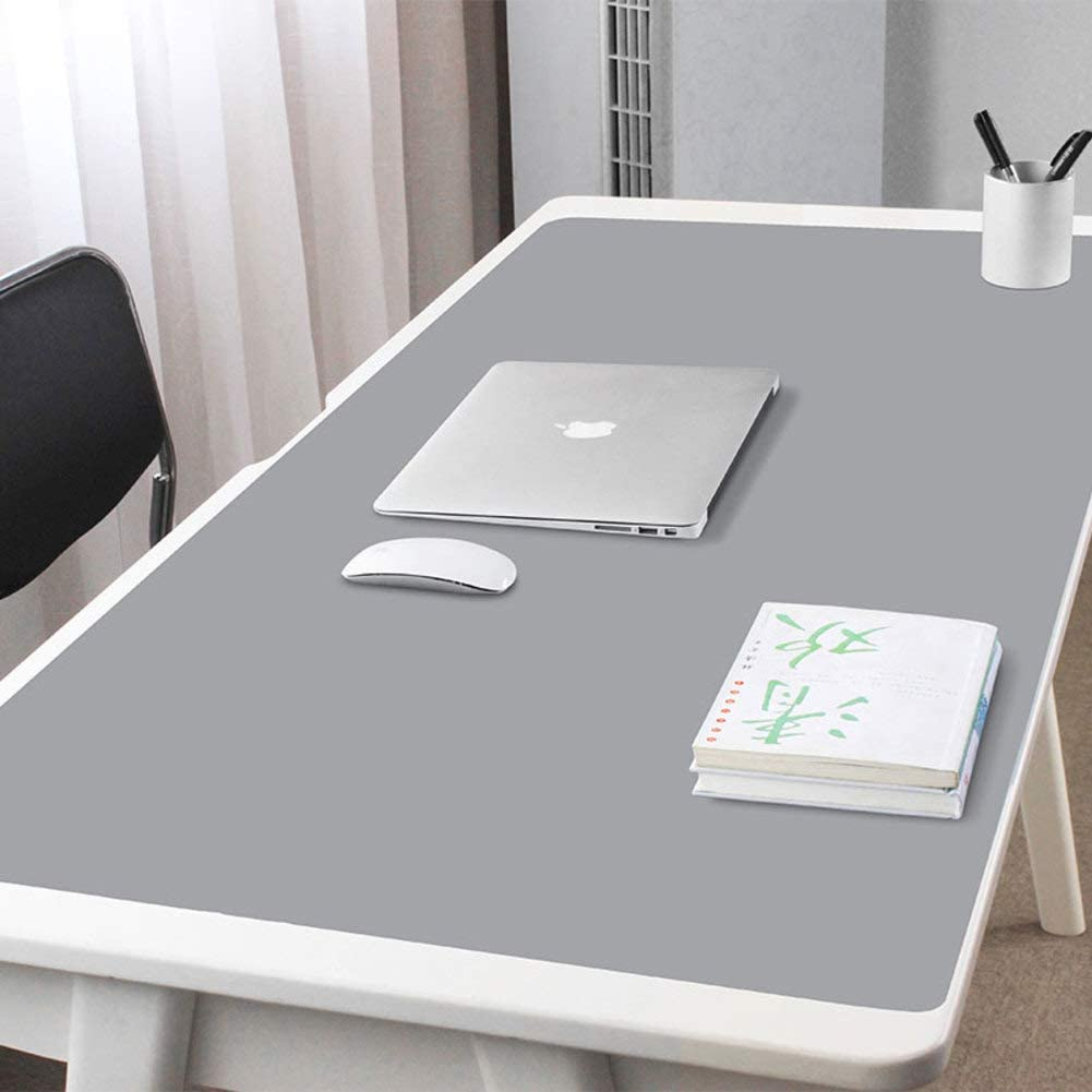 JiaQi Pu Leather Mouse Pad,Ultra Thin Double Side Mouse Mat,Durable Waterproof Mousepad Table Pad Fast and Accurate Control-l 120x60cm 47x24inch