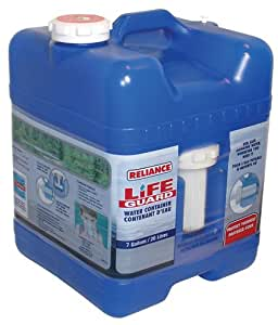 Reliance Products Lifeguard 7-Gallon Rigid Water Container with Filter