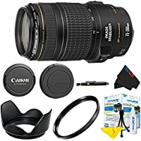 Canon EF 70-300mm f/4-5.6 IS USM Lens + Pixi-Basic Accessory Lens Kit