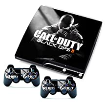 Skin Sticker Custom Cover Case Decal Vinyl FOR Sony PS3 Slim Console and 2 Wireless Remote Controllers (CALL OF DUTY 2)