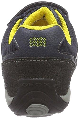 Geox Jr Arno  - Zapatillas de deporte para niño Blu (Blau (C0657NAVY/YELLOW))