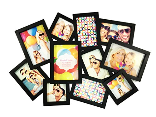 BestBuy Frames Puzzle Style Collage Picture Frame, 11 Opening 3-5x7, 5-4x6, 3-4x4, Perfect Photo Frame for Family, Friends, Travel Pictures. Collage and Multiple Opening Frames (Friends Picture Frame Vertical compare prices)