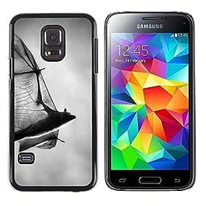 TopCaseStore / la caja del caucho duro de la cubierta de protección de la piel - Halloween Black White Dracula - Samsung Galaxy S5 Mini, SM-G800, NOT S5 REGULAR!