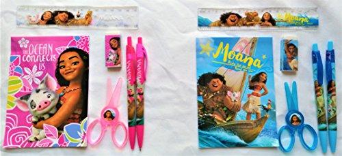 Disney Moana Stationery set - Total of 2 sets - Disney Kids Party Favors Bag Fillers