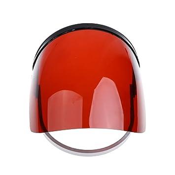 F Fityle Cubierta de Cara de Protección Facial Soldadura Tubo de Baño Fontaneros Suministros Casera Patios - Rojo, 22.5 × 21 cm: Amazon.es: Jardín