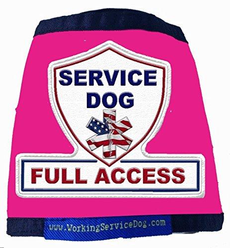 Premium Service Dog Vest RASPBERRY