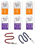 Cruise Ship Luggage Tag Holders (6-pack) with 2 Lanyards for Cabin Key Card