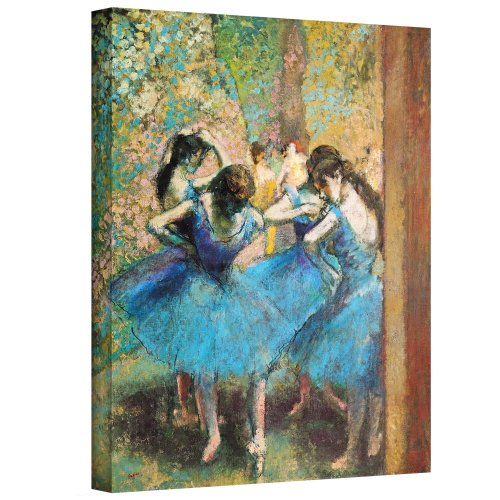 ArtWall Edgar Degas 'Dancers in Blue' Gallery-Wrapped Canvas, 14x18
