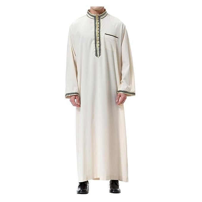 Xinvision Muslim Arab Men Thobe Thawb Robe - Islamic Kandoura Dubai  Dishdasha  Amazon.ca  Clothing   Accessories 5dc75bf2b