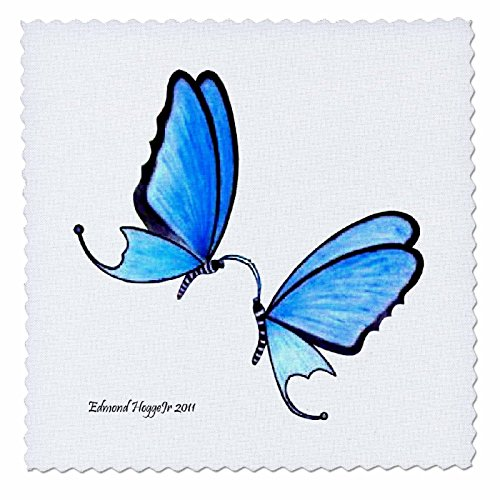 (3dRose qs_21455_4 Butterfly Kisses Quilt Square, 12 by 12-Inch )
