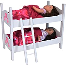 The New York Doll Collection Bunk Bed for Twin Dolls fits 18 Inch Dolls