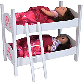 Amazon Com For American Girl Doll Canopy Bed Amp Trundle