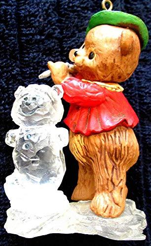 Hallmark Keepsake Christmas Ornament 1980's Bear & Ice Sculpture