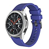 CSSD Newest Sport Soft Silicone Replacement Wristbands Watch Bands for Samsung Galaxy Watch 46mm (Dark Blue)