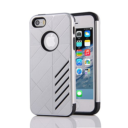 HYAIT® For IPHONE 5S/SE [CONTRAST]Case Dual Layer Hybrid Armor Rugged Plastic Hard Shell Flexible TPU Bumper Protective Cover-XJAE08