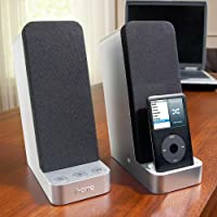 iHome iP71 Computer Stereo System with Dock for iPhone/iPod (Silver)