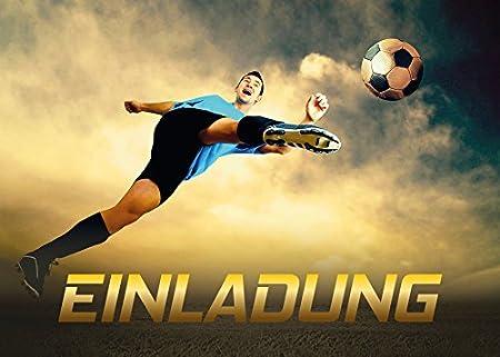 9 Einladungskarten Kindergeburtstag Fussball Fussball Jungen