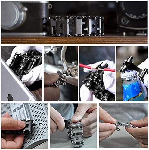 29 Multi-Functions Stainless Steel Bracelet Tool for Outdoor Camping Hiking Kit