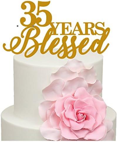 Anniversario 35 Matrimonio.35 Anni Blessed 35th Anniversario Di Matrimonio Decorazione Per