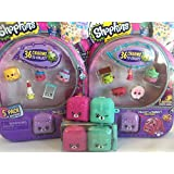 Shopkins Season 5 (Set of 4) 2 Non Matching S5 5 Packs and 2 S5 2 Pack Backpacks. You'll have 2 each: Purple Bunny, Pink Cat, Teal Dog Backpacks, Bracelets, and more!