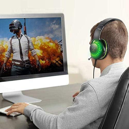 Pacrate Casque de Jeu USB Filaire avec - Actualités des Jeux Videos