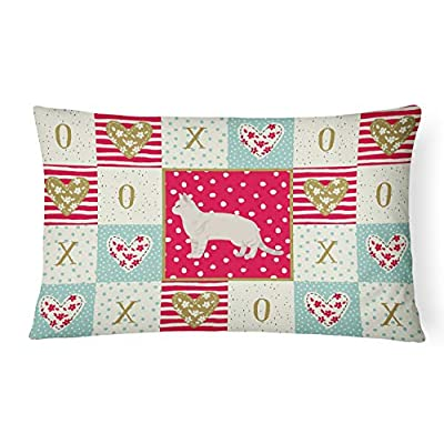 Caroline's Treasures CK5549PW1216 American Shorthair #2 Cat Love Canvas Fabric Decorative Pillow, 12H x16W, Multicolor : Garden & Outdoor